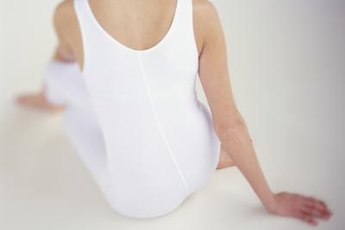 Protect your lower back and knees while practicing yoga.