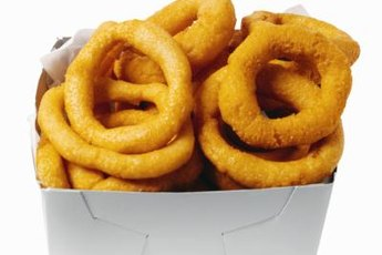 Onion rings are tasty, but can be toxic to dogs.