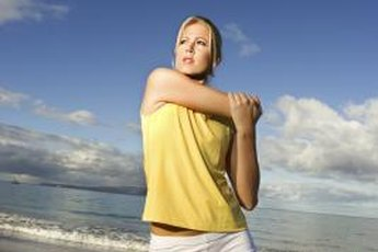 Stretching your shoulders may help improve shoulder flexibility.