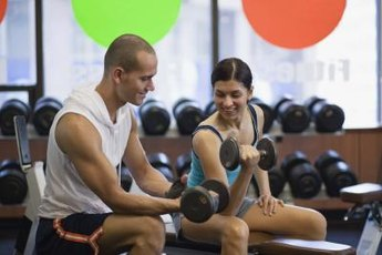 Basic arm exercises may include dumbbell and machine movements.