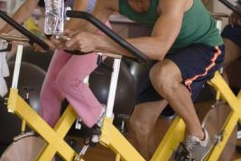 Exercise bikes provide an aerobic workout that burns calories and builds muscle.