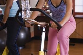 Stationary biking is an effective and challenging cardio workout.