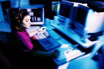 Police dispatchers rely on computers to send help.
