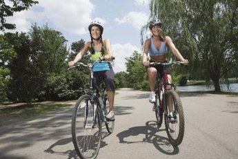 Cycling is a low-impact, calorie-burning exercise.