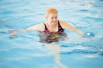 The safest place to use ankle weights is in the pool.