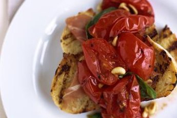 Stewed tomatoes are rich in lycopene.