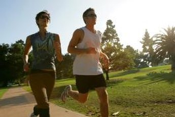 Jogging works a number of lower-body muscles.