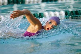 Swimming laps may slow down the aging process.