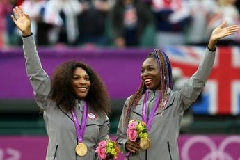 Serena and Venus Williams won a gold medal at the 2012 London Olympics for women's doubles.