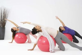 The fitball is used for a variety of exercises.