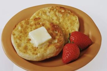 Boost the nutrition of English muffins with protein, dairy, fruit and vegetable toppings.