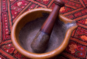 Using a mortar and pestle gives food a better tactile feel than a spice grinder.