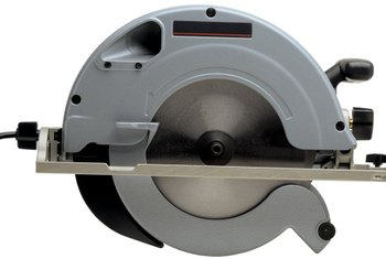 A circular saw makes quick work of cutting through thinner concrete slabs.
