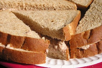 Whole-wheat bread adds fiber to tuna salad.