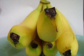 Bananas are excellent sources of potassium and fiber.