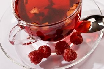 Raspberry tea is sweet and packed with antioxidants.