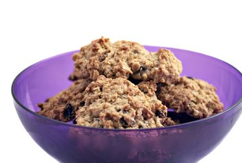 Fruit, nuts and oats add fiber to traditional cookie recipes.