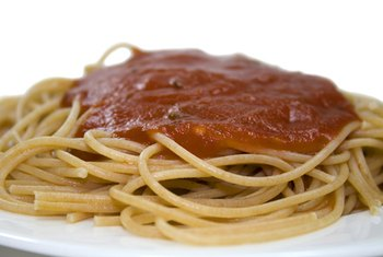 Tomato-based pasta sauce is high in vitamin C and potassium.