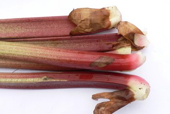 Rhubarb is a source of vitamin C and vitamin A.