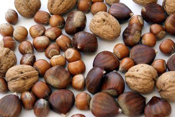 Nuts are a common vegan source of fats and protein.