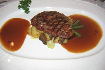 Steak is naturally rich in iron.