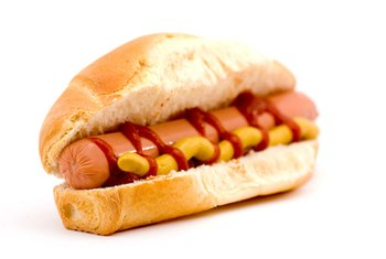 Hot dogs can be high in saturated fat and sodium.