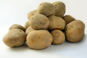 Potatoes are a good source of carbohydrates.