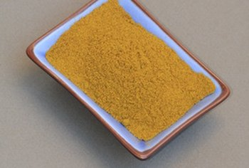 Turmeric is a primary ingredient in curry dishes.