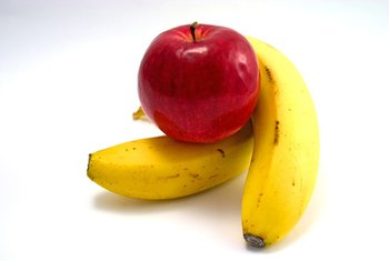 Apples and bananas supply small amounts of iron and folate.