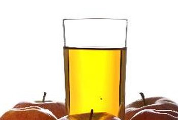 Drink apple juice as a modest source of potassium, iron and calcium.