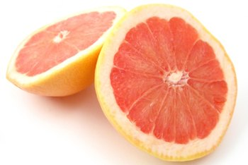 Pummelos look like large grapefruits, and they have similar nutritional values.