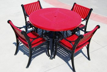 Adding furniture can improve the appearance of any patio.