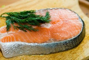 Fatty fish, such as salmon, are rich sources of DHA.