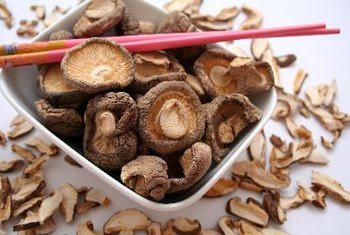 Shiitake mushrooms are low in calories and high in B vitamins.
