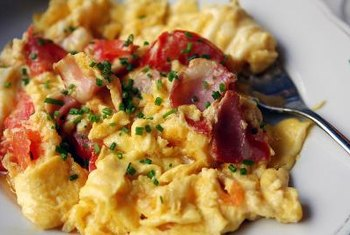 Omelets can be made lactose-free.