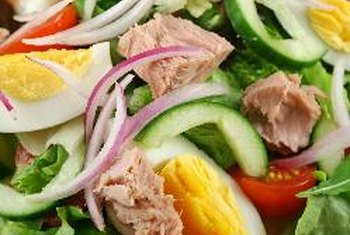 Add tuna to a tossed salad for a boost of protein.