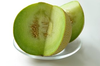 Honeydew melon is low in calories and high in fiber.