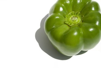 Bell peppers have a high vitamin C content.