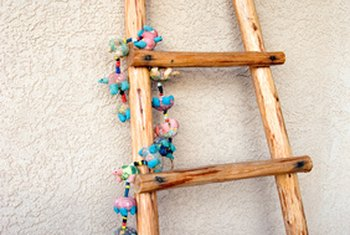 High Quality A Kiva Ladder Adds Interest To Southwest Home Decor.