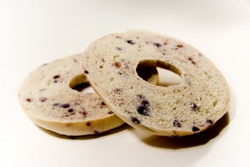 One bagel may equal three or four servings.