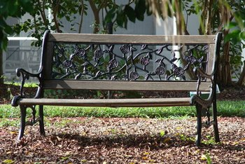 In time, park benches become weathered and benefit from new finish.