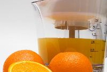 Many types of juice are full of vitamin C.