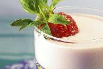 Yogurt cups are filling and beneficial to digestive health.