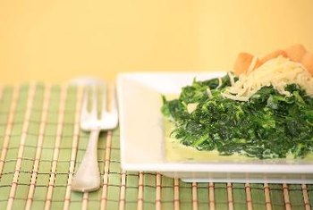 Spinach is a delicious hot or cold addition for chicken.