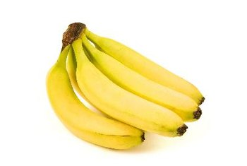Bananas are high in potassium, vitamin B-6 and fiber.