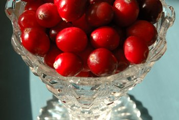 Cranberries are a good source of vitamin C.