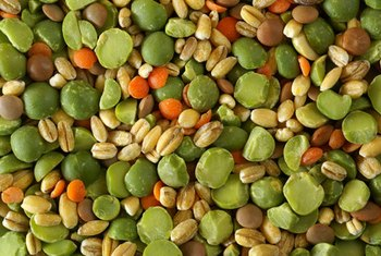 Dried pea soup mix is a good substitute for dried lentils.