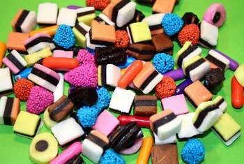 Candy is calorie-dense but provides few nutrients.