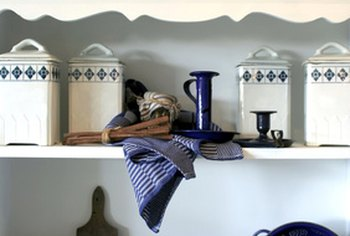 Shelves and organizational containers will ensure that your clutter stays away forever.
