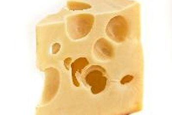 Swiss cheese contains a small amount of vitamin A.